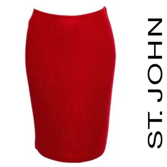 St. John NWT  Diamond Textured Knit Pencil Skirt 8